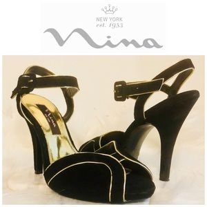 Nina Shoes Shoes - Nina New York Suede Peep-Toe Ankle Strap Size 7